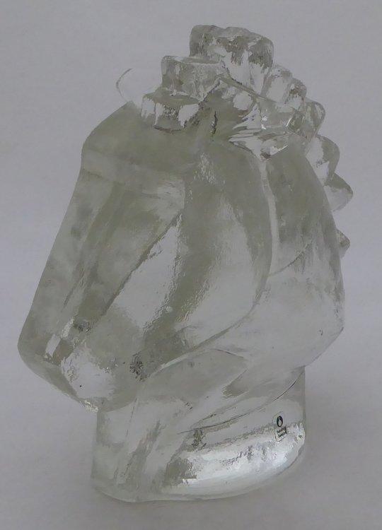 PUKEBERG ART GLAS PAARDENHOOFD