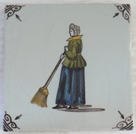 Makkum tegel figuur dutch art pottery for Tichelaar makkum tegels